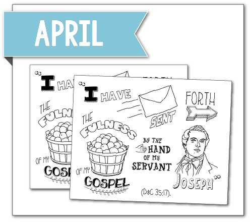 April YW Coloring Page